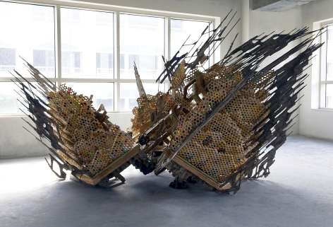 a sculpture by the Syrian artist Diana Al-Hadid available for purchase