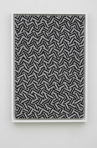 SkyTrax, 2014, Canvas, spandex, acrylic paint on printed cotton, and printed felt in painted wood frame