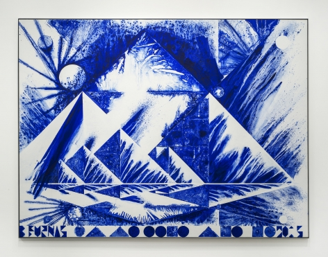 The First Morning (Blue Rooster), 2015,
