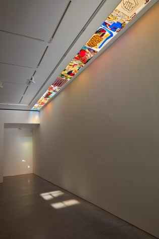 a light installation by jessica jackson hutchins in a chelsea art gallery
