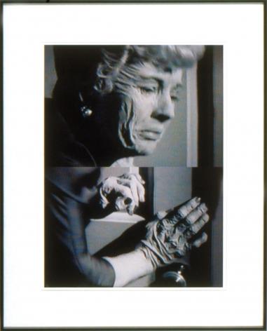 split portrait of an elderly woman by john waters