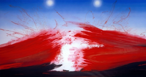 painting by barnaby furnas with bloody water