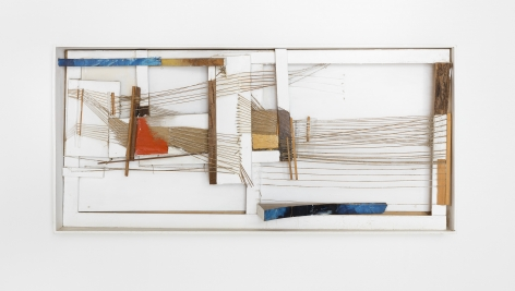a deconstructed loom by contemporary fiber artist maria lai