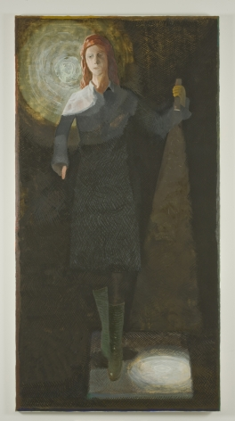 painting of a woman with a flashlight by jesse chapman
