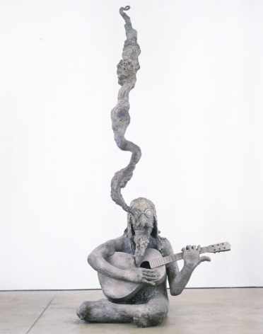 Ballad of the Hippie, 2003, Bronze and peacock feather
