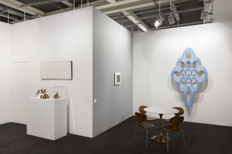 Art Basel booth display by Marianne Boesky Gallery