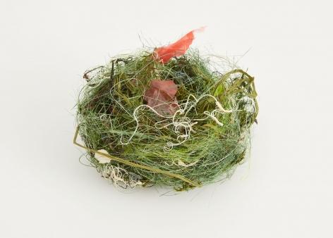a bird's nest sculpture by German artist Bjorn Braun
