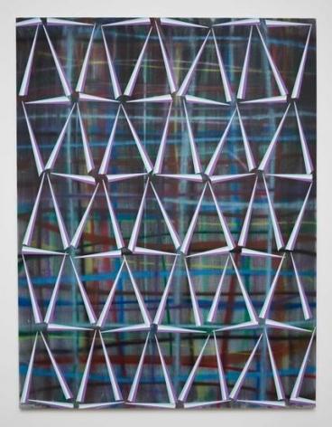 Untitled (fr.80-01), 2014, Spray paint, canvas, acrylic
