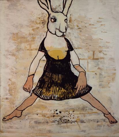 bunny in a dress by hannah van bart