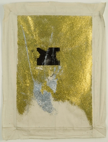gold and silver glitter mounted on canvas by kianja stobert