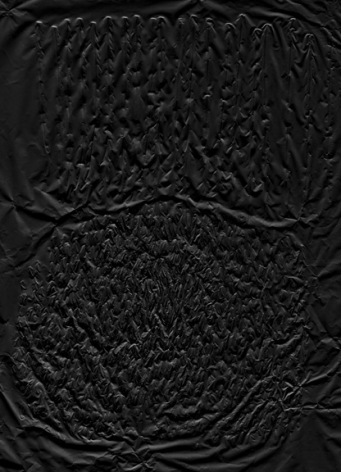 textured black painting by anthony pearson