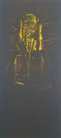 portrait of christ in yellow by barnaby furnas