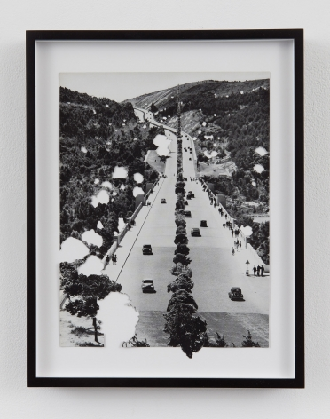 a photograph collage by Bjorn Braun in a contemporary art gallery in New York City