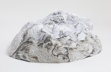 Passed, Present passed, future passed, present, future passed, future, past passed, present, future passed, present passed, past passed, present passed (after passing through the portal and losing your insides), 2011, Fiberglass shell and hand-cut Dura-lar