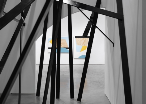 installation in a new york city contemporary art gallery by serge alain nitegeka