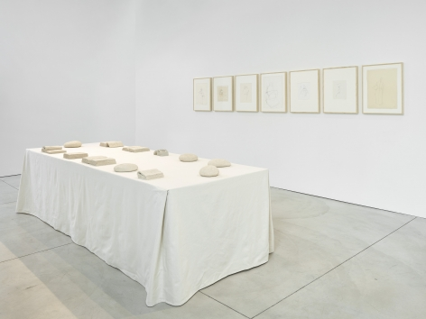 Invito a Tavola (Installation View), Boesky West, 2018