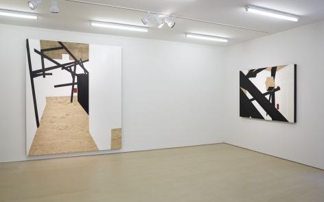 Morphings in BLACK (Installation View), BOESKY EAST, 2014