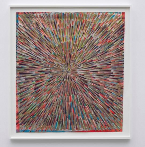 Inversion visions (Fluorescent orange, green, blue, yellow, wine, khaki, silver and gold), 2014, Spray paint and acrylic