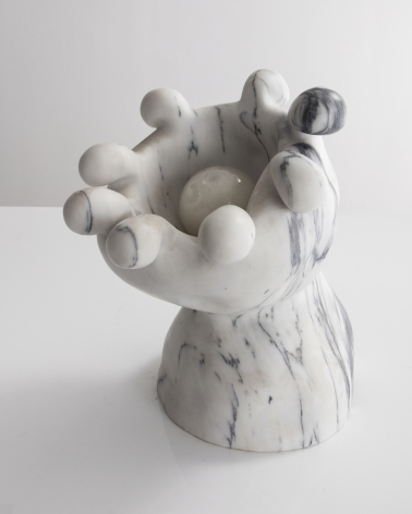 a marble lamp created by the Haas Brothers for a New York gallery exhibition