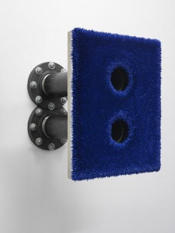 blue textured panel by donald moffett