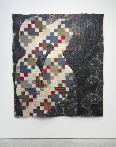 an antique quilt reworked as a work of contemporary art by Sanford Biggers