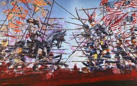 Untitled (Antietam) II, 2008, Acrylic, color pencil on linen
