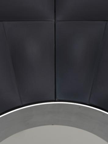 (detail)Untitled, 2017, Fiberglass-reinforced plaster and oil on cotton, wood, aluminum