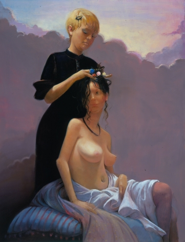 Grooming, 2003, Oil on linen