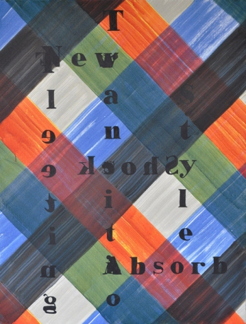 work by melissa gordon with text set against an orange, green, blue, and grey background