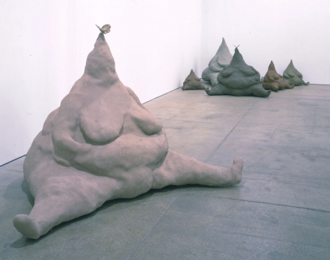 Mountain Mamas, 2003, Fiberglass and oil paint
