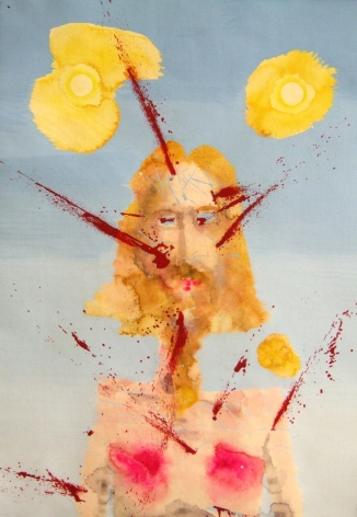 Untitled (J.C. #1), 2006, Watercolor and urethane on paper