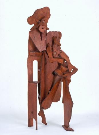 wooden figure by rachel feinstein