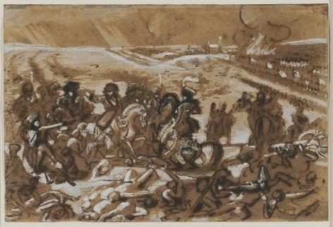 BARON ANTOINE-JEAN GROS (French, 1771-1835), Napoleon at Eylau (recto), 1807