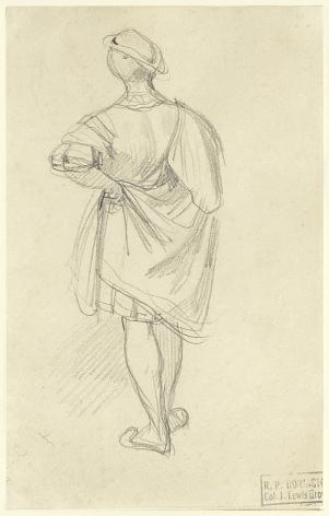 RICHARD PARKES BONINGTON(British/French, 1802-28), Studyfrom behind of a Man in 16th Century Costume,circa 1826
