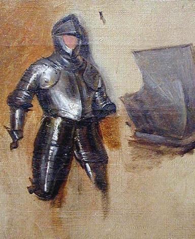 RICHARD PARKES BONINGTON(British/French, 1802-28), Study of a Sixteenth-Century Half Suit of Armour, circa 1825