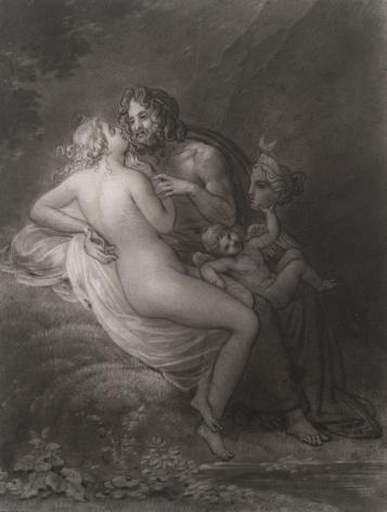 ANNE-LOUIS GIRODET-TRIOSON (France, 1767-1824), Jupiter and Callisto, circa 1820