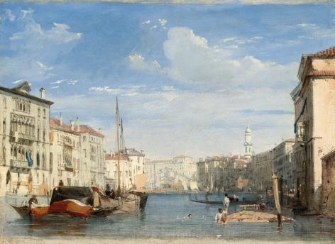 RICHARD PARKES BONINGTON, (British, 1802-28), The Grand Canal,1826/1827