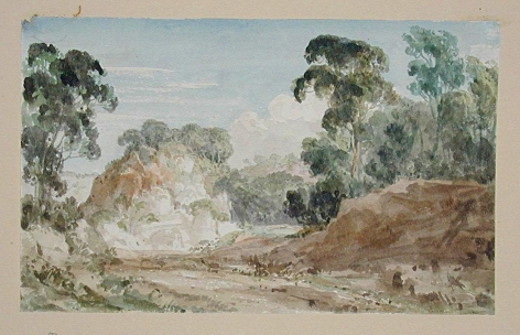 JOSEPH MICHAEL GANDY (British, 1771-1843), Watercolor #62