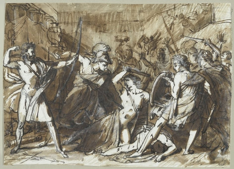 BARON ANTOINE-JEAN GROS (French, 1771-1835), Ulysses Killing the Suitors of Penelope, circa 1798