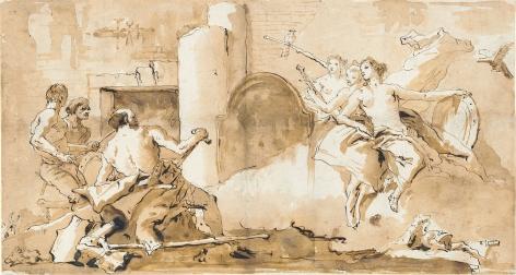 GIOVANNI DOMENICO TIEPOLO (Venice 1727-1804), Venus in the Forge of Vulcan