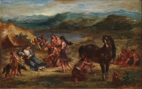 EUGÉNE DELACROIX, (French, 1798–1863), Ovid among the Scythians, 1862