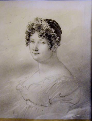 ANNE-LOUIS GIRODET-TRIOSON (France, 1767-1824), Portrait of Adélaïde de la Grange, 1812