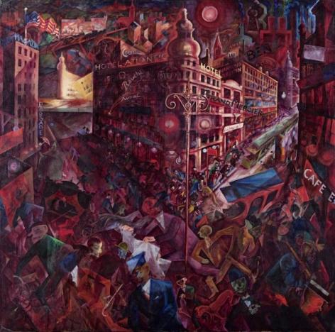 GEORGE GROSZ, (German,1893 –1959), Metropolis, 1916 - 17