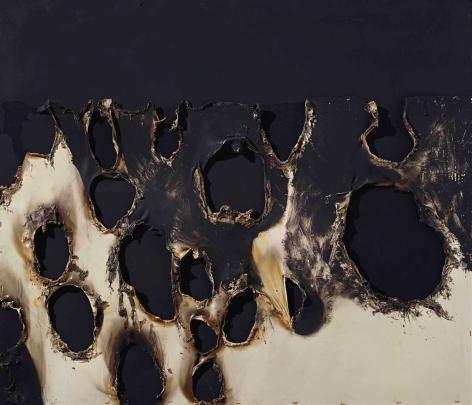 Alberto Burri,Combustione plastica, 1956, Plastic and acrylic on canvas