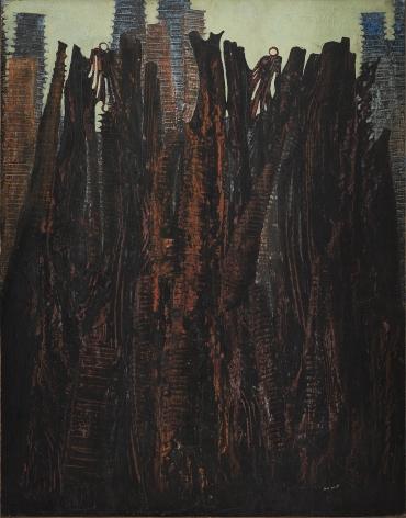 Max Ernst, Le Cimetière des Oiseaux, 1927, Oil on canvas