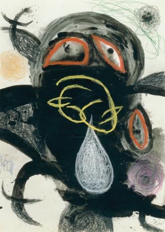 Joan Miró, Femme et Oiseau (18 / VIII/71 II and 24/XII/76 ), 1971-76