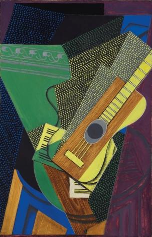 Juan Gris, Guitare sur une table, 1916 Oil on canvas 92.1 x 59.4 cm. (36 1/4 x 23 3/8 in.)