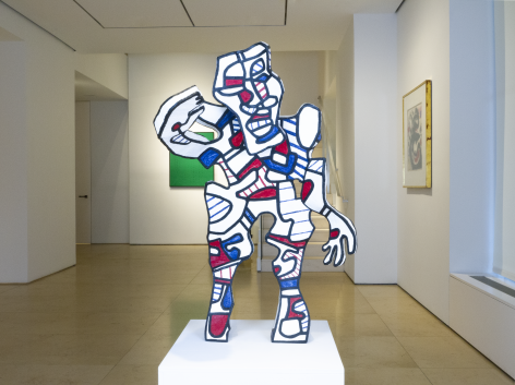 "Installation view of Masterworks featuring the sculpture (the welcoming) ""L'Accueillant"" by Jean Dubuffet."