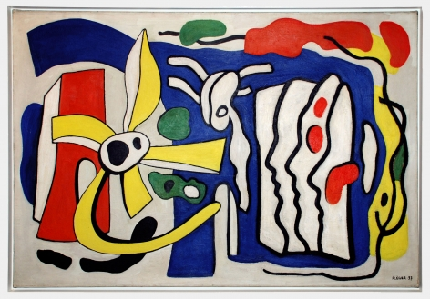 Fernand Léger, Composition aux Trois Profils, 1937 Oil on canvas 89 x 130 cm. (35 x 51 1/4 in.) ©Helly Nahmad Gallery NY