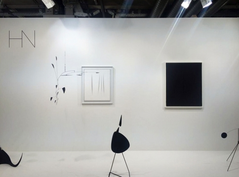 Installation view of Art Basel | Basel 2016, booth H5.  © 2018 Calder Foundation, New York / Artist Right Society (ARS), New York. ©Helly Nahmad Gallery NY